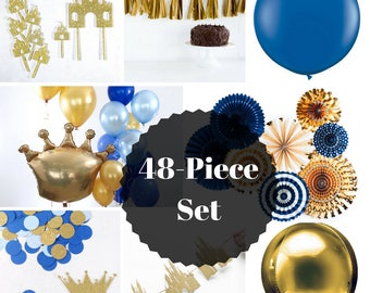 Prince Party Set | Prince Baby Shower | Prince Decorations ...