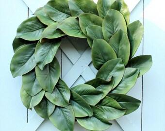 Magnolia Wreath ~ Fixer Upper Decor ~ Spring Wreath ~ Year Round Wreath ~ Farmhouse Wreath ~ Modern Farmhouse ~ Gift for Her ~ Mother's Day