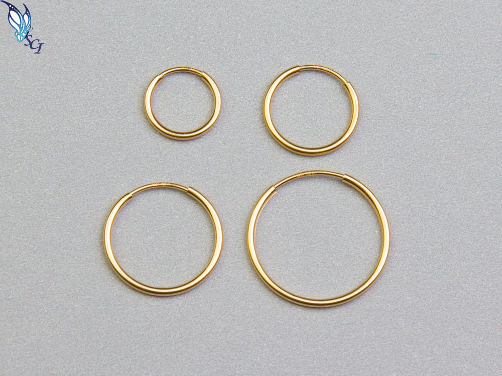 Endless Hoop Earrings 14k Gold Filled 24mm 30mm 38mm