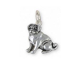 Pug Jewelry Sterling Silver Pug Charm Handmade Dog Jewelry PG45-C