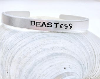 Beastess- custom bracelet- crossfit-woman bodybuilder-strong-weightlifter- fitness jewelry-strong is beautiful-bracelet