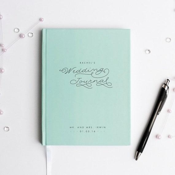 Wedding Journal Notebook Wedding Planner Personalized custom wedding book bridal shower guest book rustic wedding keepsake gift for bride