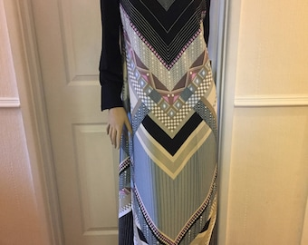 Lapidus Authentic Vintage Amazing Tunic Maxi Dress sz 12/14 * One Only