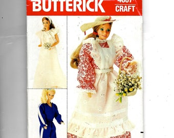 Butterick Fashion Doll Clothes Pattern 4687