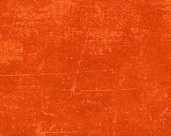 Orange Peel/Bright Orange Blender Canvas Print COTTON Fabric  [[by the half yard]]
