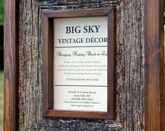 Barnwood Photo Frame Rustic Reclaimed Wood Western Decor Vintage Primitive FR1800