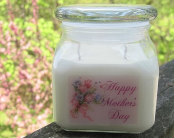 MOTHER'S DAY - 10 oz soy jar candle - your choice of fragrance (15% discount)