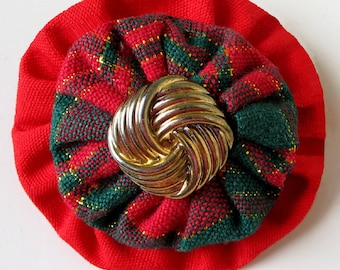 YoYo Pin Brooch Free Shipping  Red Green  Shiny Gold