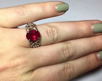 Vintage Sterling Silver Pink Quartz Ring Size 6 by Shube Dakota West Pink Gemstone Ring Southwestern Ring