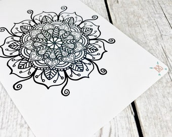Full Page A5 Mandala Coloring Sticker - Version 2