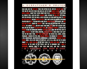 Dispatcher's Prayer 911 Dispatcher Gift / 911 Dispatcher Quote Thank You Gift INSTANT DOWNLOAD Printable