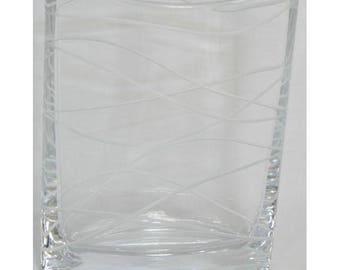 mid-century lead crystal pocket vase