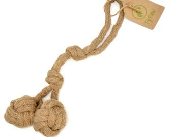 Rocco Organic Natural, Safe and Durable Dog Chew Toy. Great for flossing their gums and dental hygiene