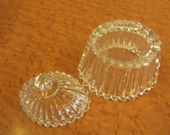 Beautiful Clear Glass Dish with Lid