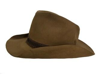Vintage 1970s Stetson Cowboy Hat Size 7 5/8(?) Heavily Distressed