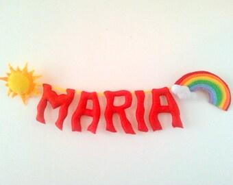 Rainbow Party Decoration, Rainbow Baby Shower, Personalized Name, Rainbow Dash Name, Girl Room Decor, Nursery Decor, Custom Party Supply