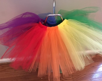 Bright Rainbow Tutu Adult Teen Child Skirt