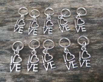 Love stitch markers