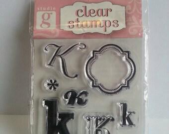 "Studio G Clear Stamp - Monogram Letter ""K"""