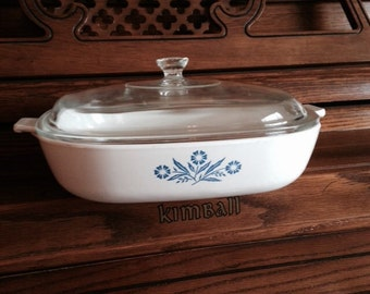 Corning Ware Cornflower Blue 10 inch Casserole Dish, P-10-B