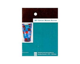 David Rago / Auction Catalog / 20th Century Modern / Mid Century Modern / Pottery / Glass / Furniture /  Rago Auctions / Auction / Fine Arts