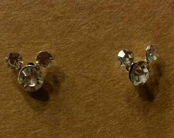 Petite Crystal Minnie/Mickey Mouse Earrings - choice of 8 colors