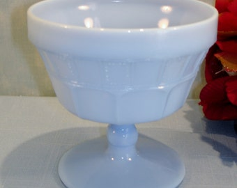 Doric by Jeannette Delphite Blue Depression Glass Sherbet