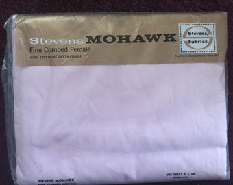 Stevens Mohawk fine combed percale flat double sheet all cotton