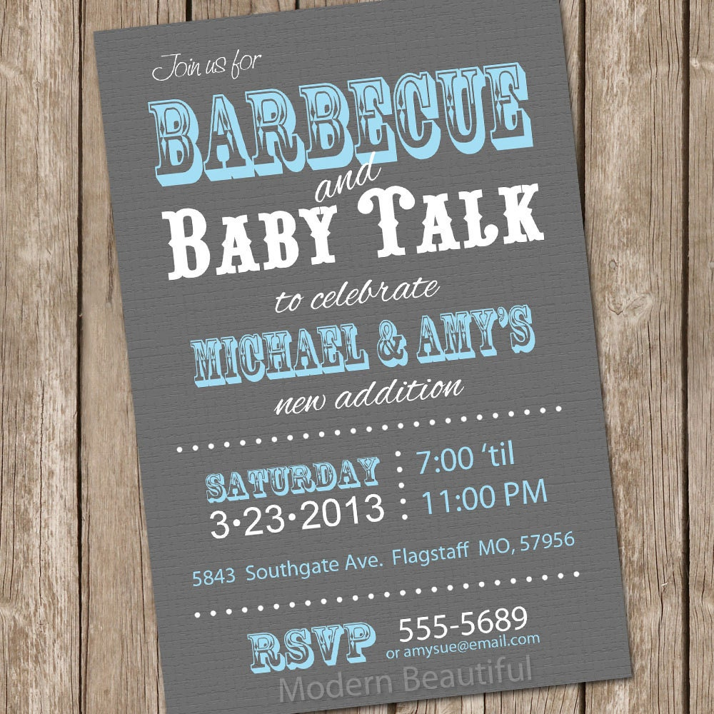 Barbecue baby shower invitation bbq baby shower invitation