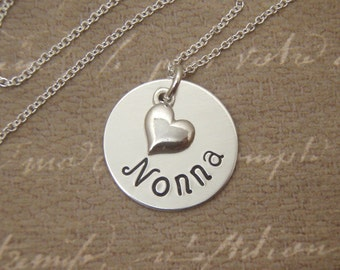 Grandmother necklace -  Nonna, Mema, Nana, Yia Yia, necklace - Custom, Personalized, Name - New grandma gift - Photo NOT actual size