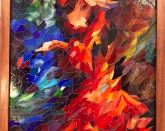 The Dancer in Stained Glass Mosaic