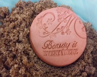 Beauty is everywhere Brown Sugar Keeper, brown sugar disk pottery brown sugar keeper ceramic sugar disk clay brown sugar saver housewarming