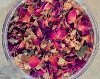 Rose, Lemon Balm, Linden Flowers and Chamomile Tea - Organic Herbal Tea - Loose Leaf Tea - Dried Flowers - Herbal Tea - Organic Herbal Tea
