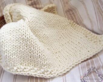 111 Knitting Pattern, PDF  Chunky Baby Blanket, Instant download, Beginner knitting patterns, Easy knit blanket