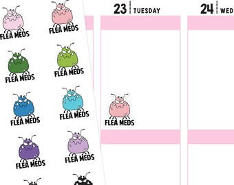 Flea Meds Stickers, Pet Stickers, Medication Stickers, Dog Stickers, Cat Stickers