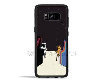 Galaxy S8 case Outer Space Cat Retro Arcade Games Astronaut Cat Phone Case galaxy s7 case galaxy s7 edge case Video Games