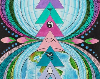 The 18 Layers of Earth Poster-Spiritual Poster