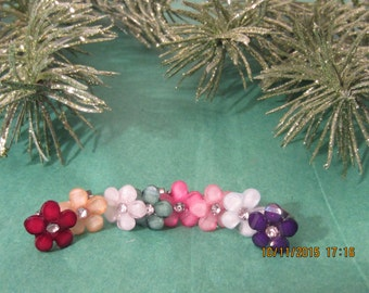 Flower Earrings, Stud Earrings, Bridesmaid Earrings, Bridesmaid Gift, Wedding Earrings, Silver Earrings, Hypoallergenic