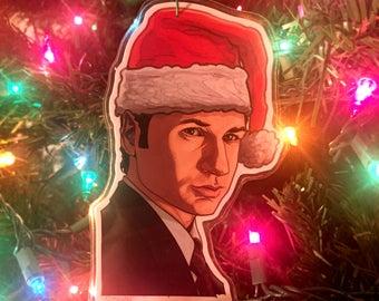 Fox Mulder X-FILES CHRISTMAS ORNAMENT!