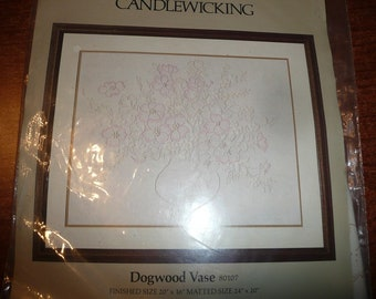 Vintage Something Special Candlewicking Dogwood Vase Kit
