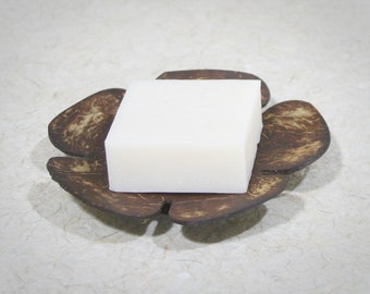 Flower Coconut Shell Soap Dish