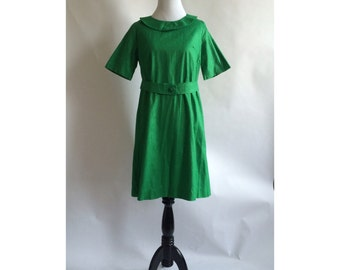 Vintage green textured dress