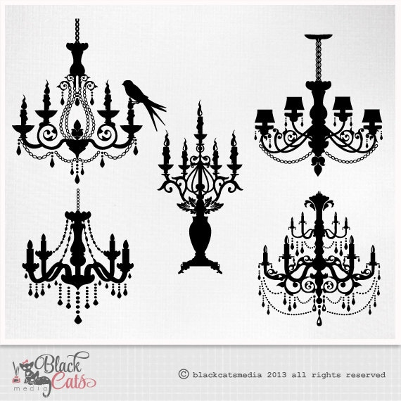 Chandelier silhouette baroque ornamental decorative clip art chandelier silhouette baroque ornamental decorative clip art eps png and psd files instant download highly detailed aloadofball Images