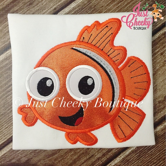 Nemo Inspired Embroidered Shirt - Finding Nemo - Finding Dory - Clownfish - Blue Tang - Disney Vacation - Disney Birthday
