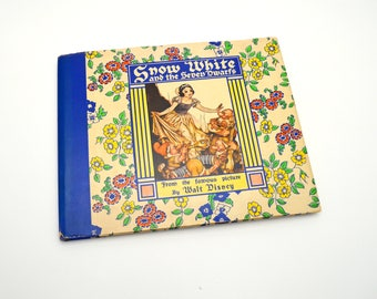 HTF Snow White and the Seven Dwarfs Book, Walt Disney, 1938 First Edition, Excellent Condition, Dust Jacket, Very Clean Copy
