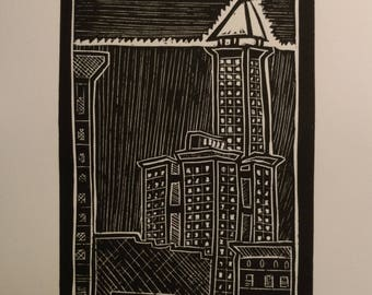 Smith Tower Seattle - series of four prints
