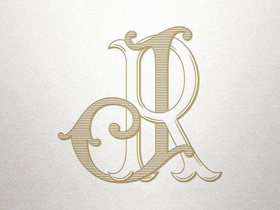 wedding initials logo jr rj wedding initials vintage