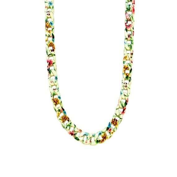 Retro Garden Chain Necklace - Sunny