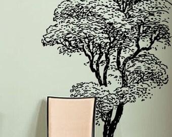 Vinyl Wall Decal Sticker Tall Tree 6ft tall Decoration