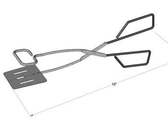 """Stainless Steel BBQ 18"""" Tongs- KG 40730"""